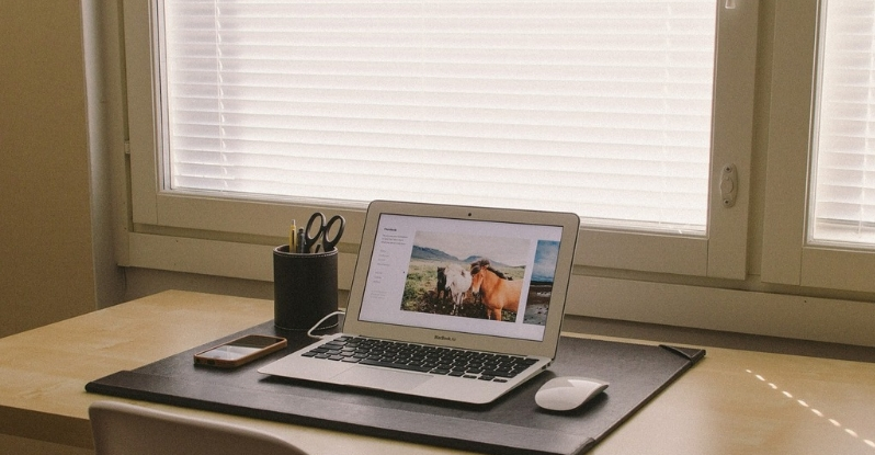 work in home office