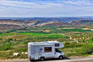 motor home in high country