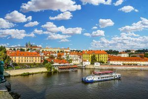 river at Prague tour boat