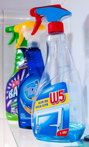 spray vinegar and water