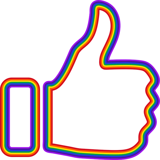 thumbs up sign colored