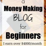 money ,aking blog for beginners