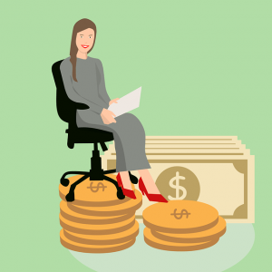 woman makes money at home