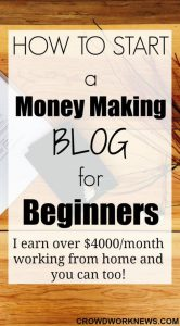 money making blog poster
