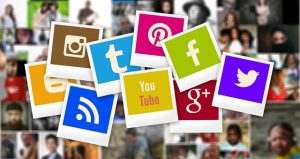 a coomunity behind social media icons