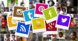 a coomunity behind social media icons