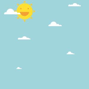 smiling sun blue sky