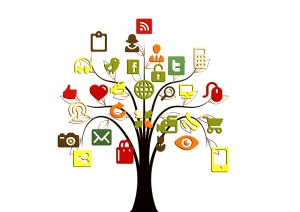 tree of social media icons