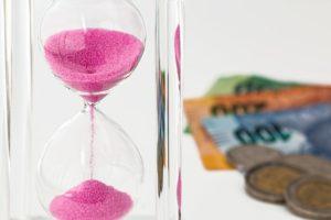 hourglass running vs money