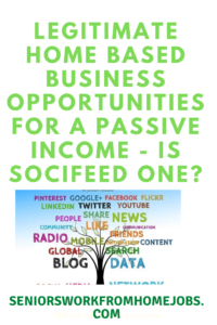 Legitimate Home Based Business Opportunities For A Passive Income - Is Socifeed One?: social media words